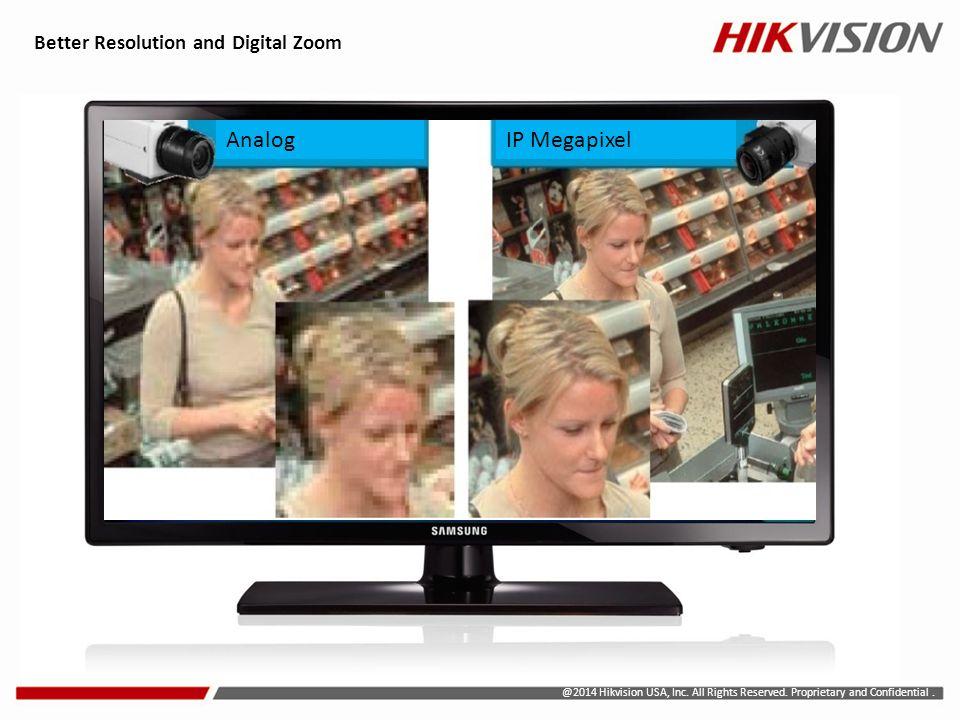 Analog IP Megapixel Better Resolution and Digital Zoom