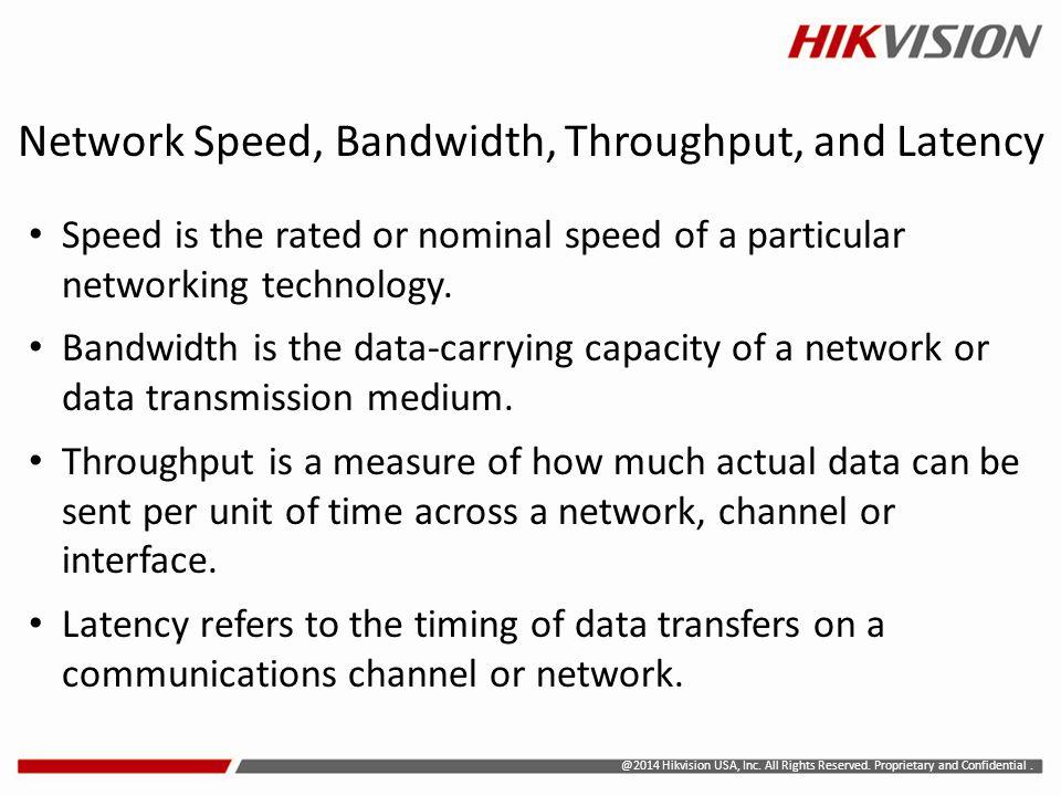 Network Speed, Bandwidth, Throughput, and Latency