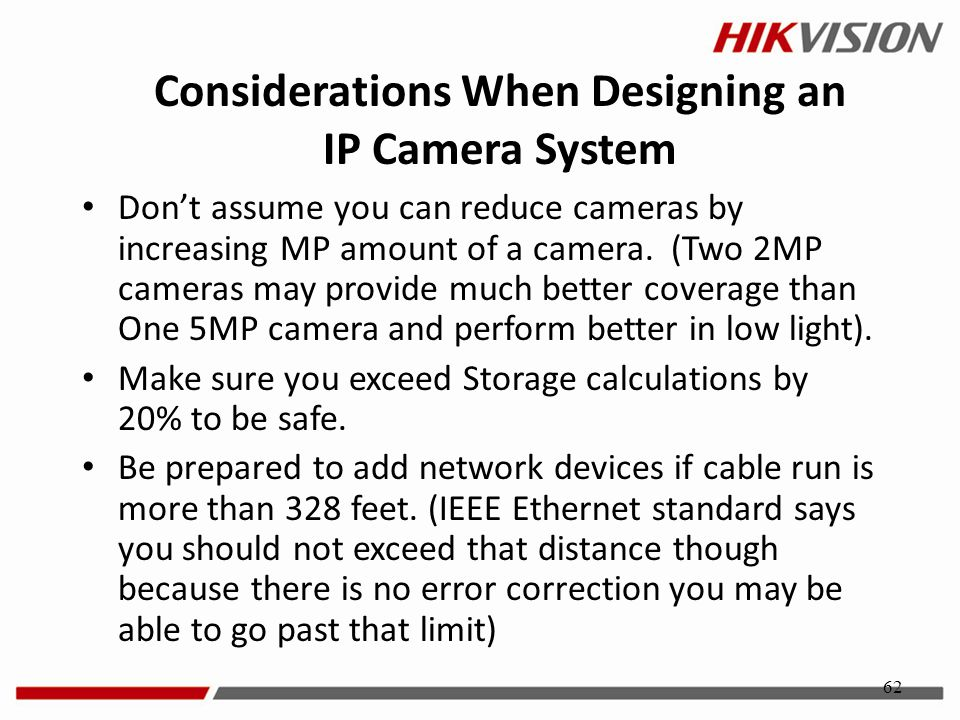 Considerations When Designing an IP Camera System