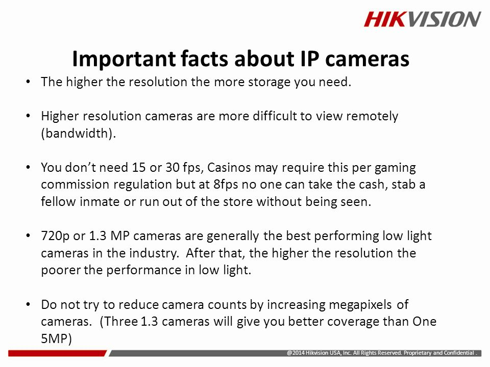 Important facts about IP cameras