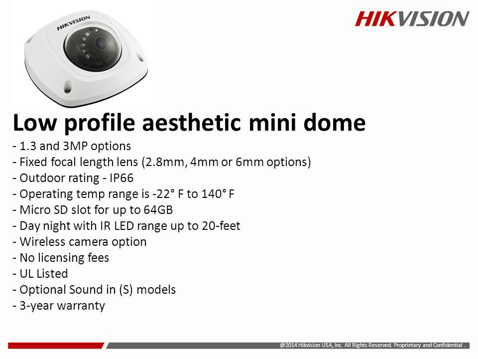 Low profile aesthetic mini dome - 1