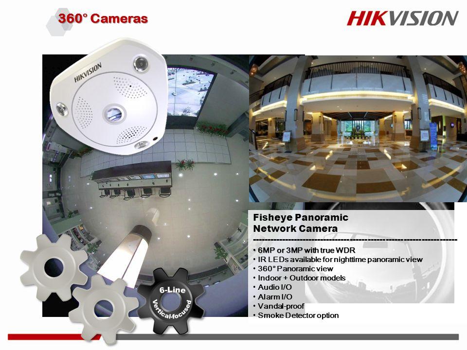 360° Cameras Fisheye Panoramic Network Camera