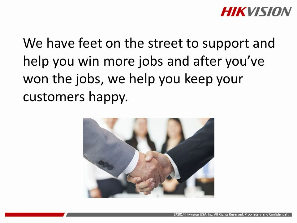 We have feet on the street to support and help you win more jobs and after you've won the jobs, we help you keep your customers happy.