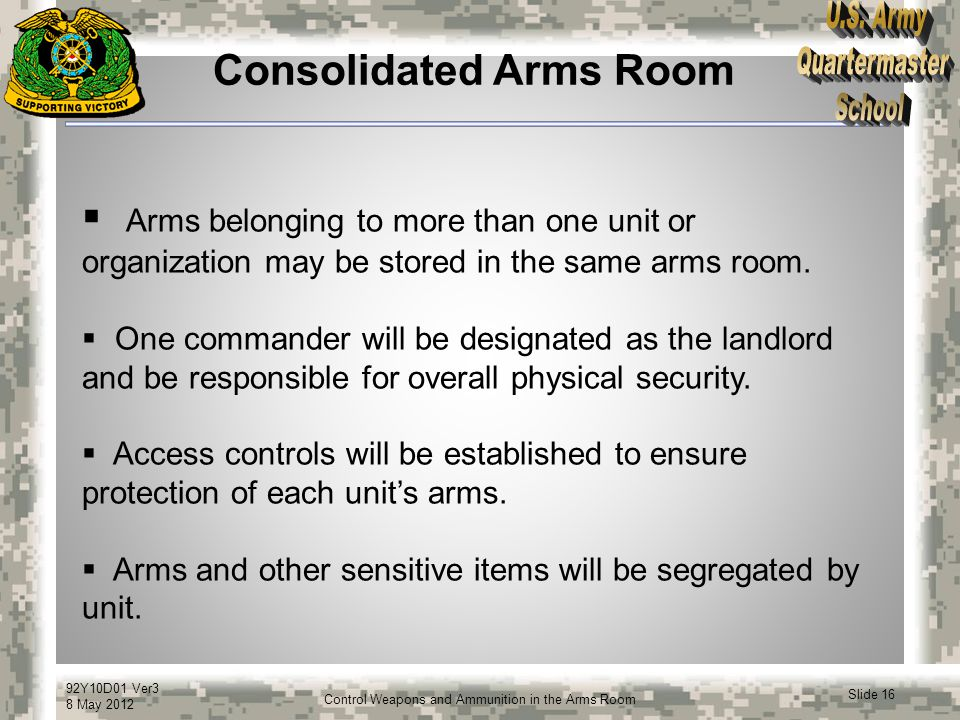 Consolidated Arms Room