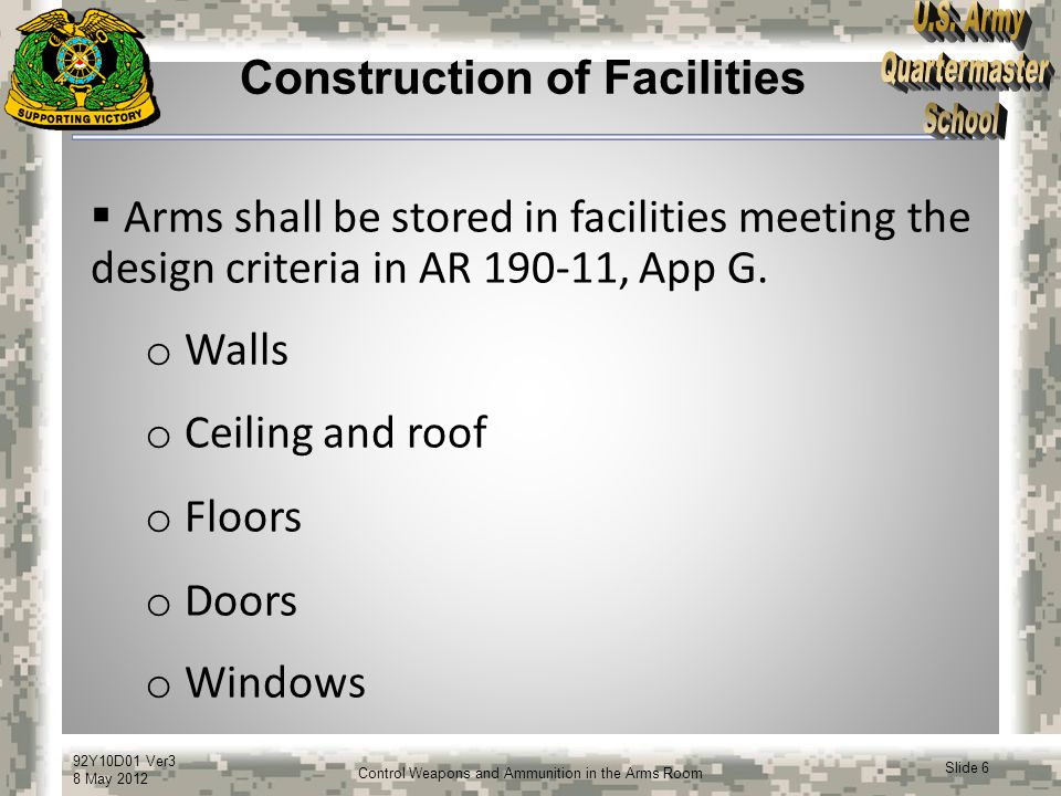 Construction of Facilities