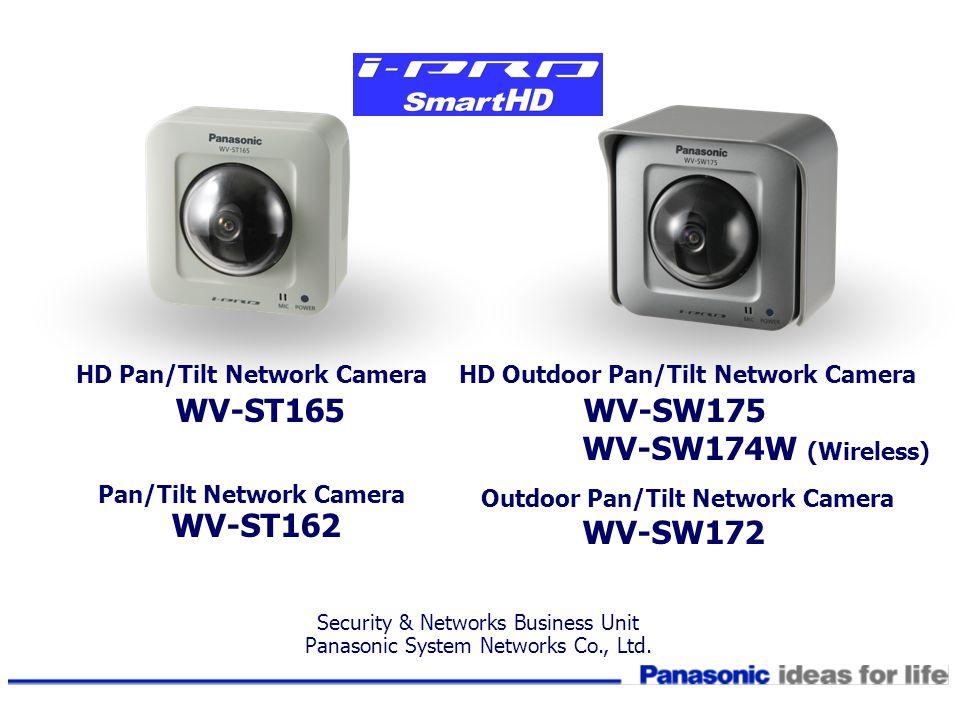 WV-ST165 WV-SW175 WV-SW174W (Wireless) HD Pan/Tilt Network Camera