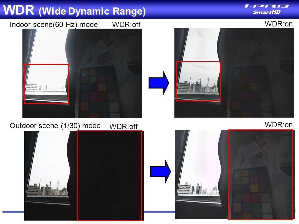 WDR (Wide Dynamic Range)