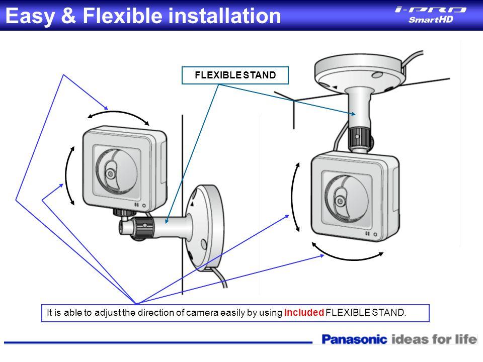 Easy & Flexible installation
