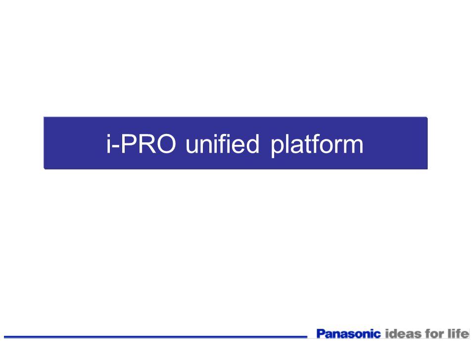 i-PRO unified platform