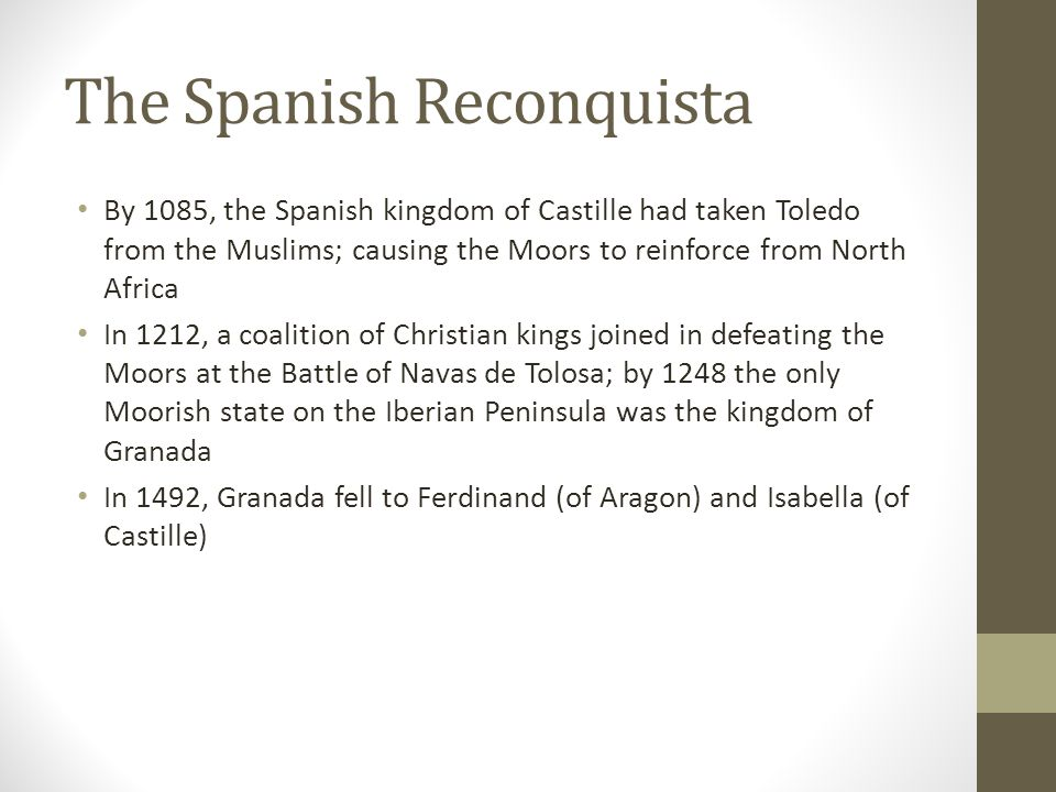 The Spanish Reconquista