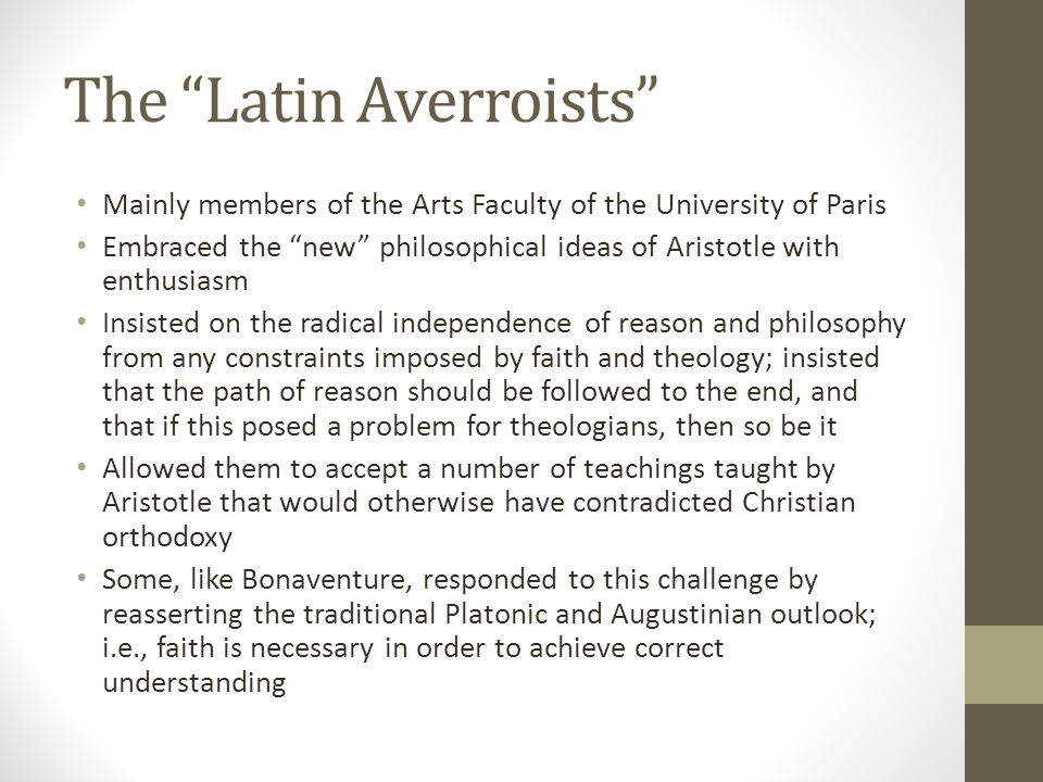 The Latin Averroists