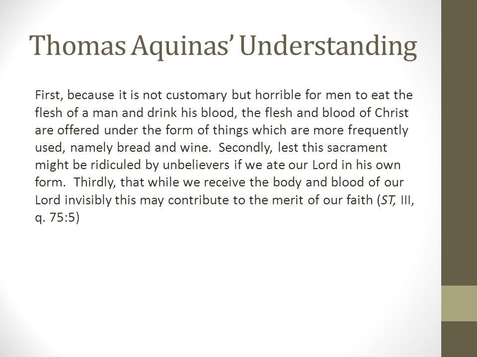 Thomas Aquinas' Understanding