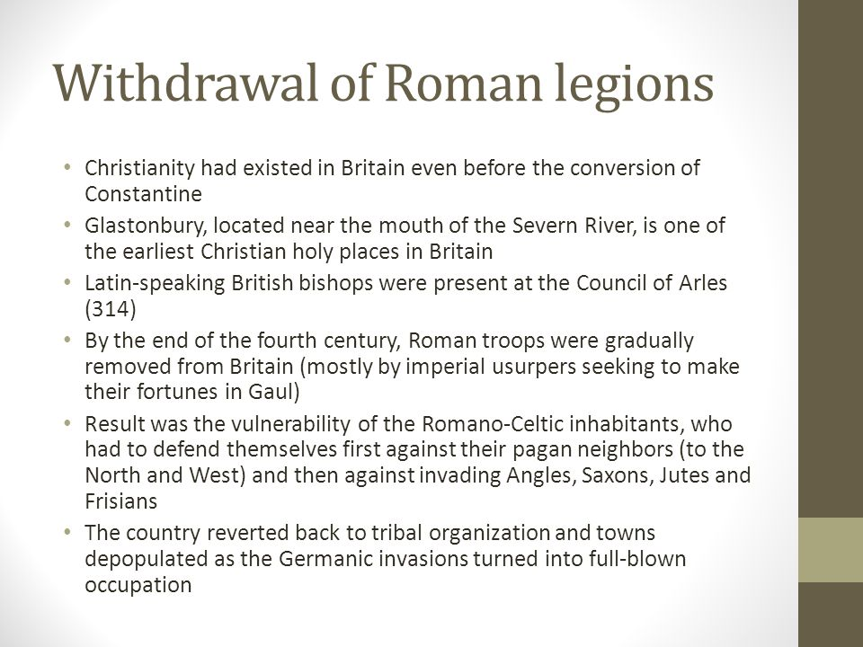 Withdrawal of Roman legions