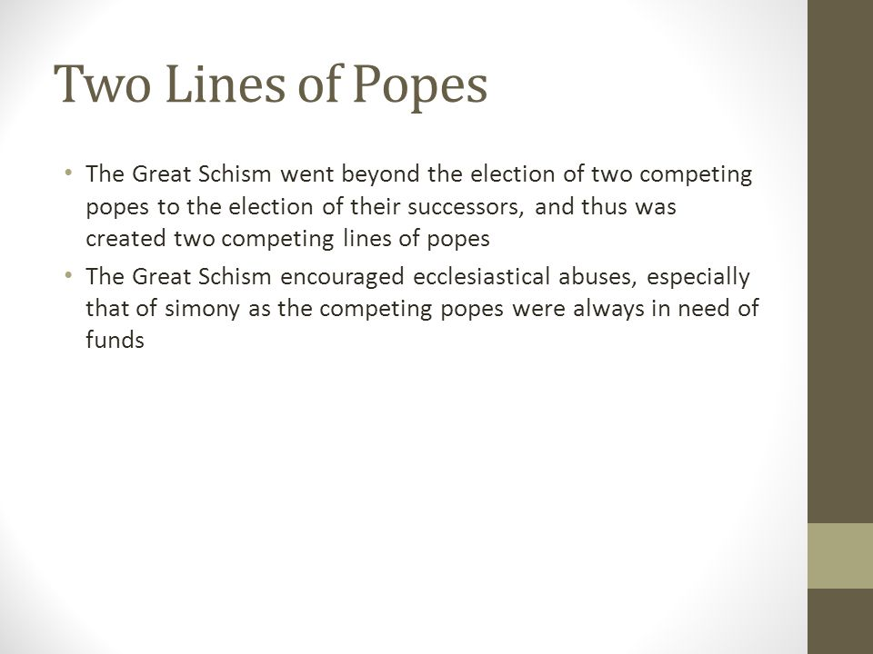 Two Lines of Popes