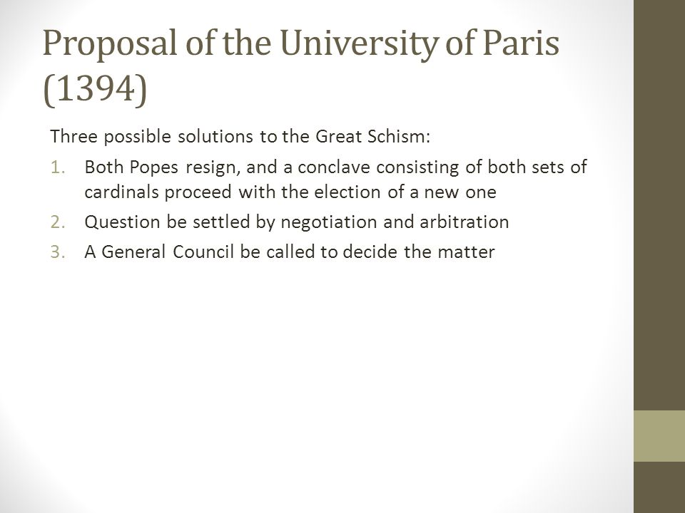 Proposal of the University of Paris (1394)