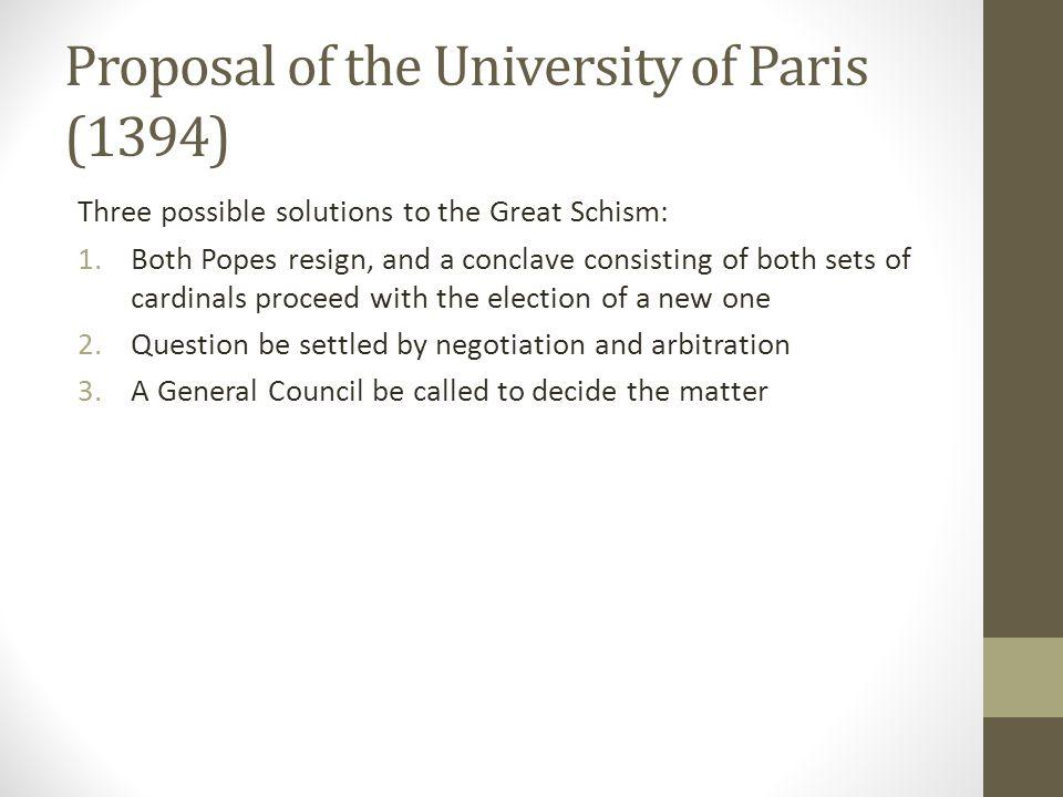 Proposal of the University of Paris (1394)