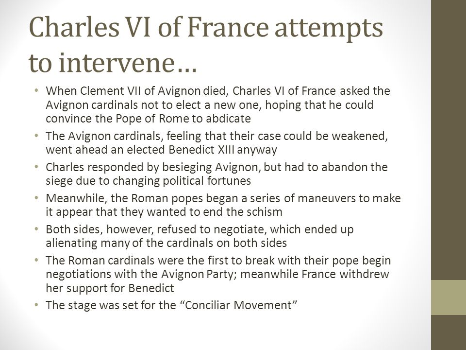 Charles VI of France attempts to intervene…