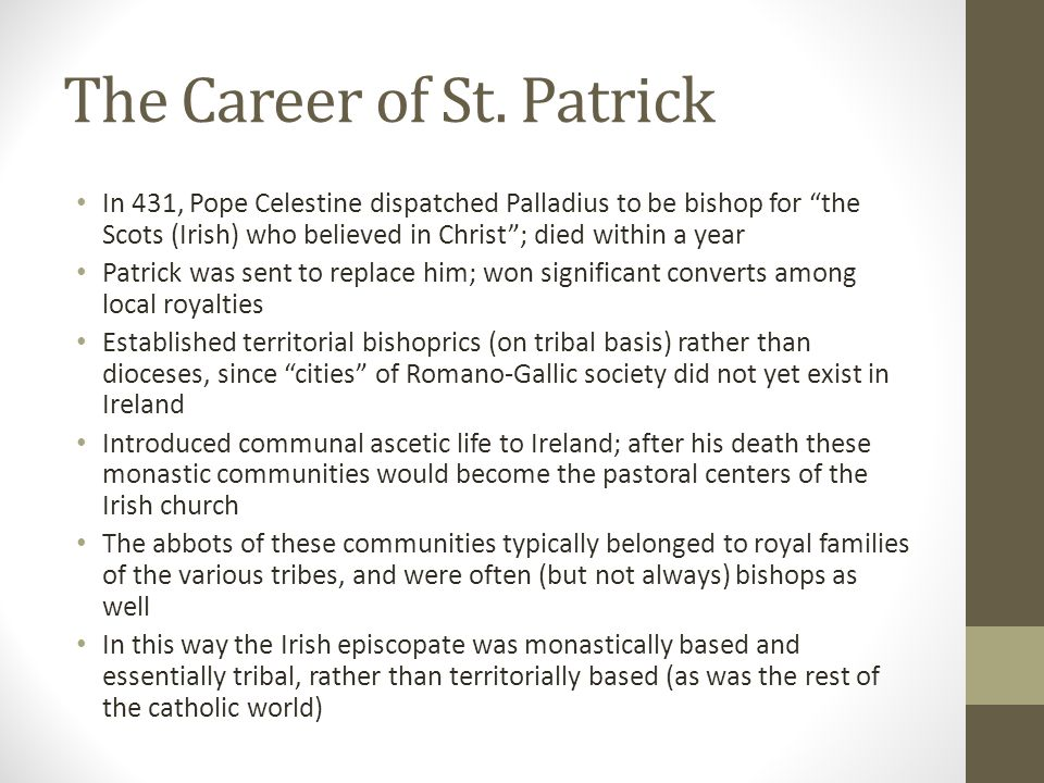 The Career of St. Patrick