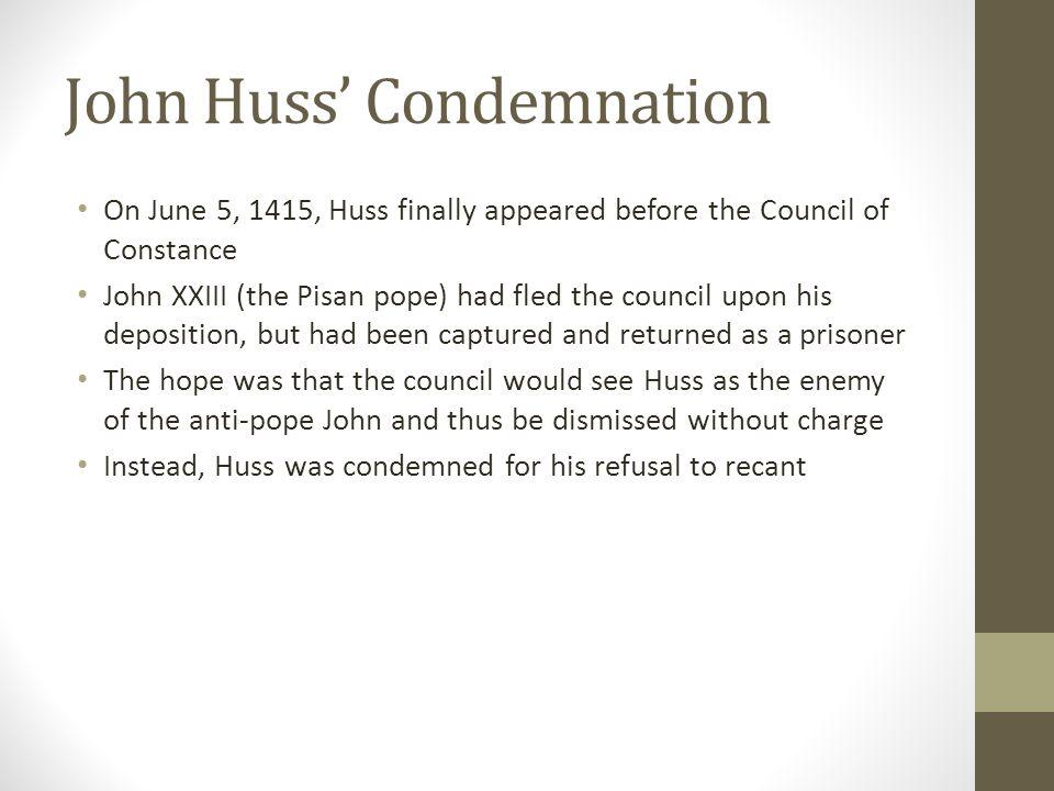 John Huss' Condemnation