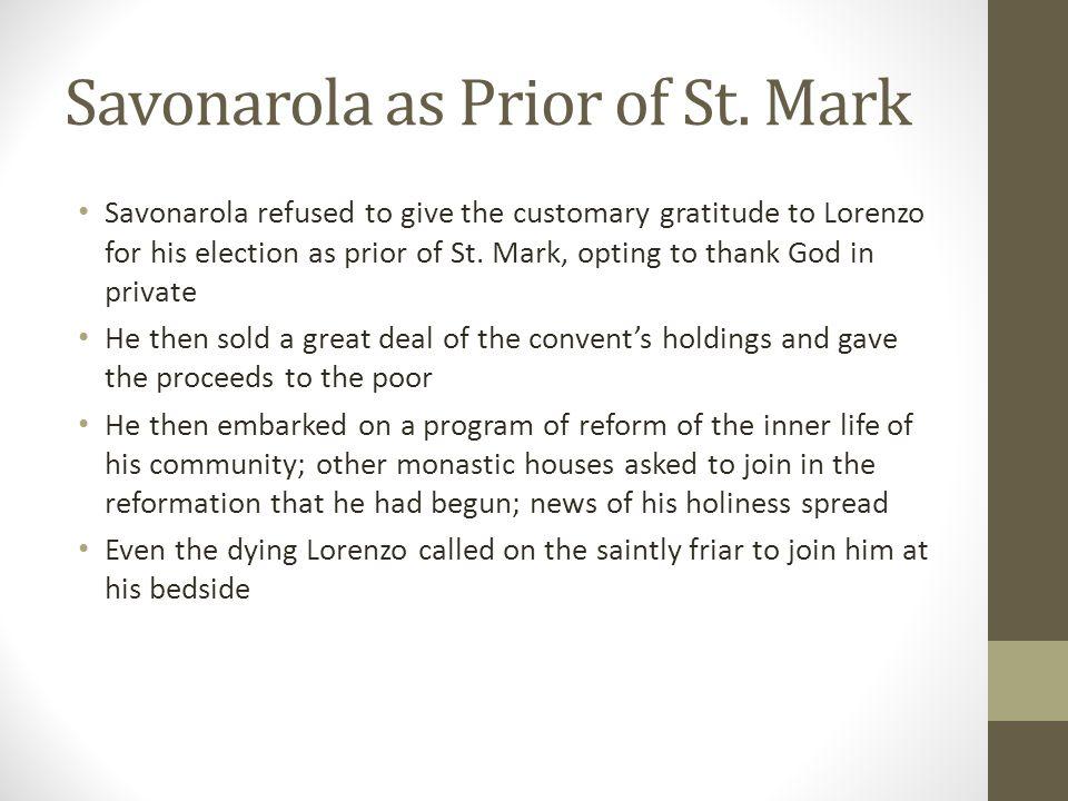 Savonarola as Prior of St. Mark