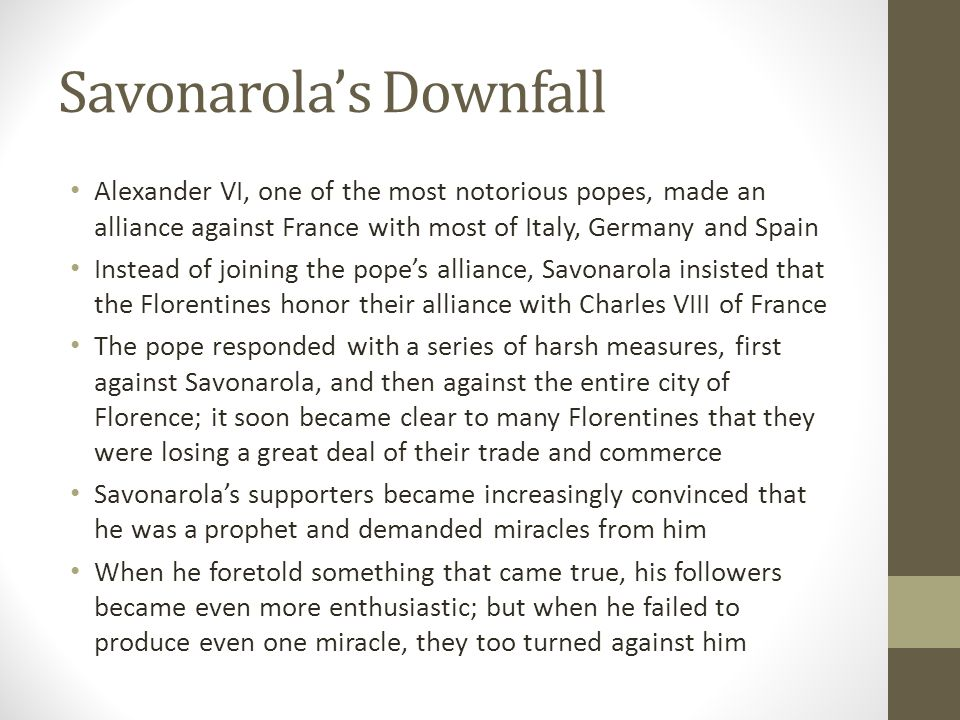Savonarola's Downfall