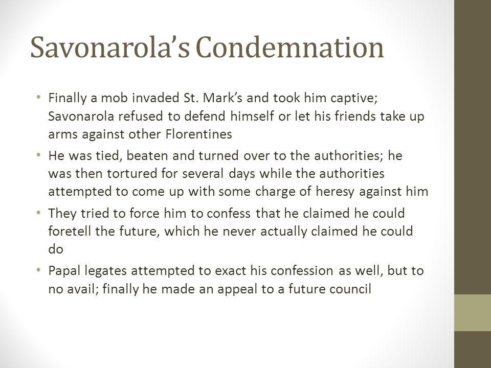 Savonarola's Condemnation