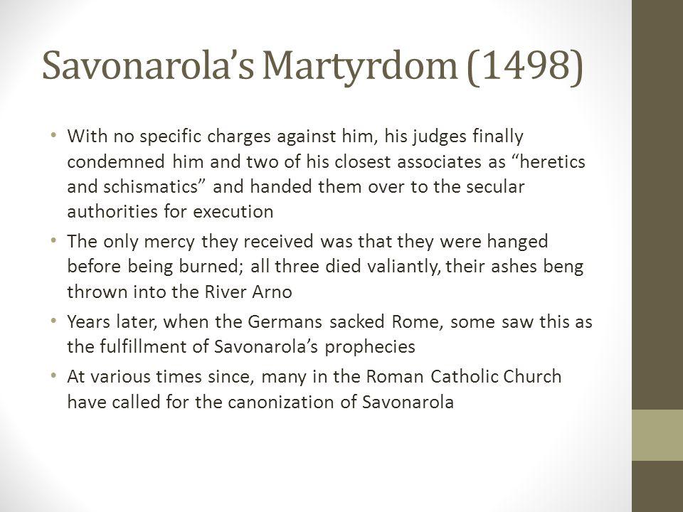 Savonarola's Martyrdom (1498)