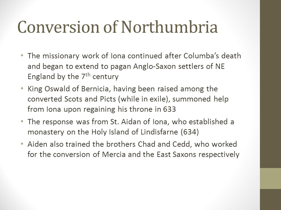 Conversion of Northumbria