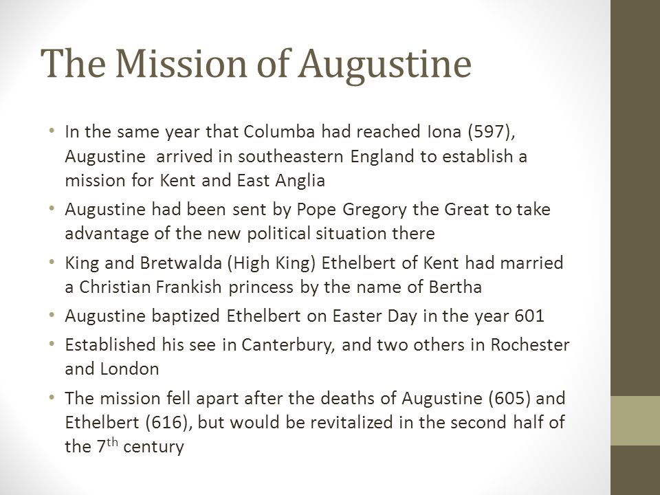 The Mission of Augustine