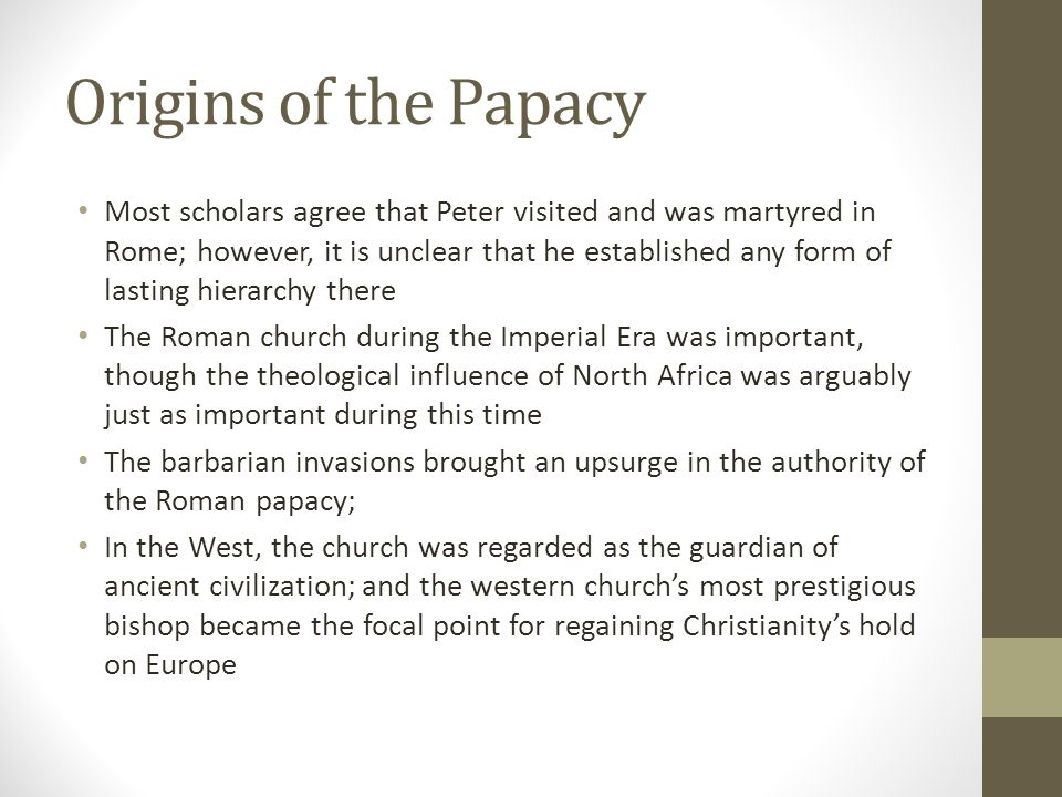 Origins of the Papacy