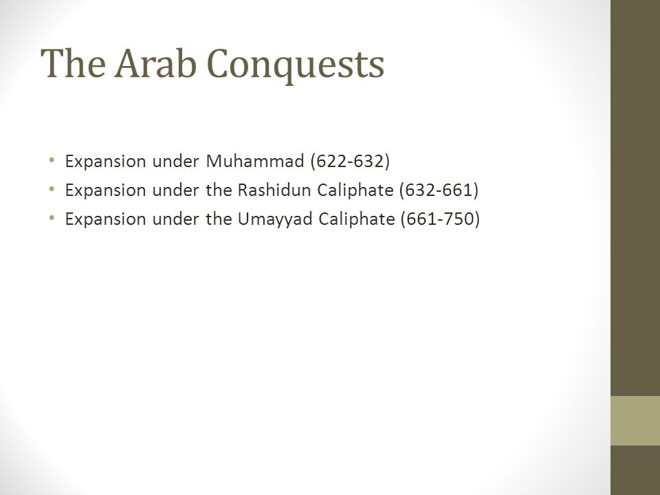 The Arab Conquests Expansion under Muhammad (622-632)