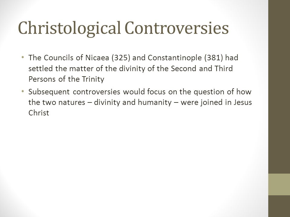 Christological Controversies