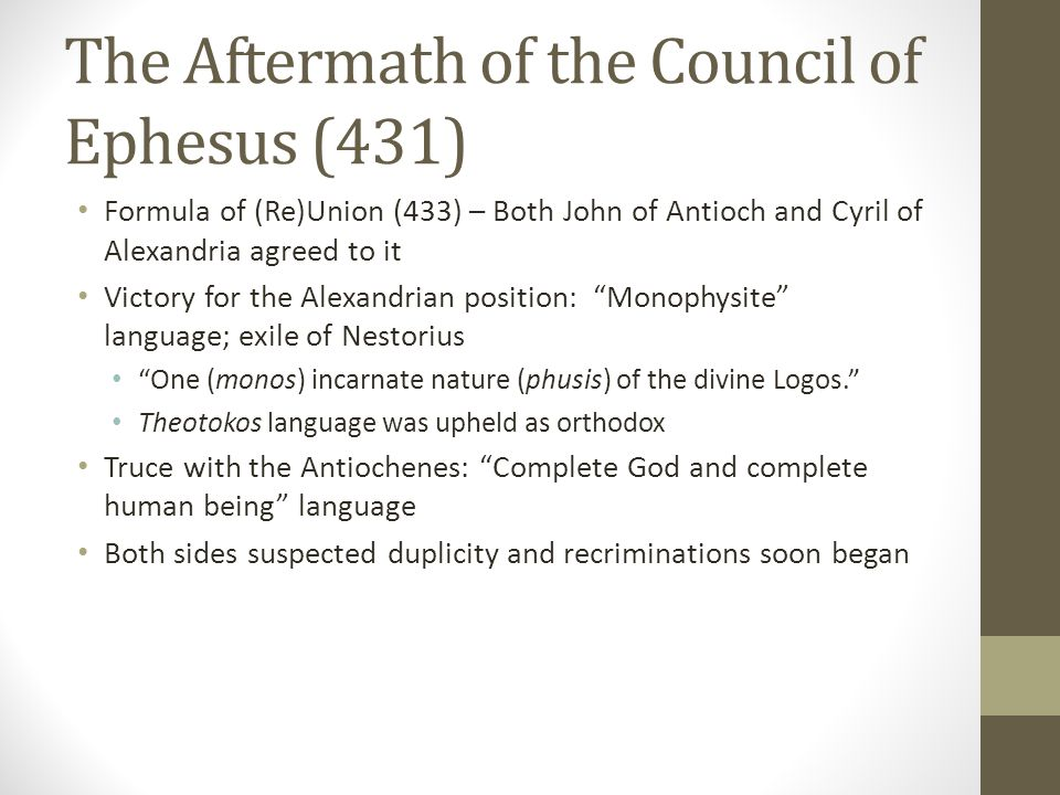 The Aftermath of the Council of Ephesus (431)