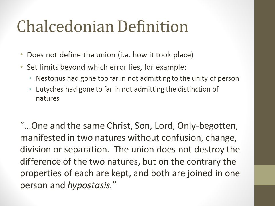 Chalcedonian Definition