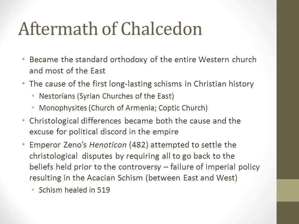 Aftermath of Chalcedon