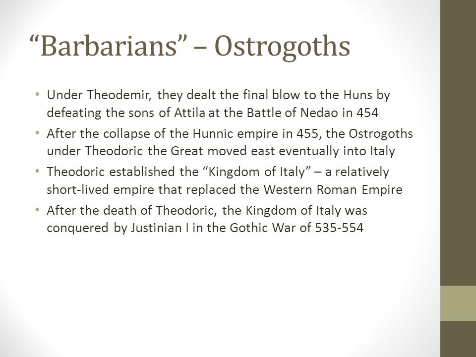 Barbarians – Ostrogoths
