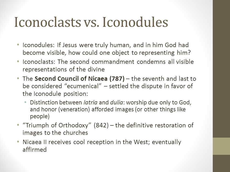 Iconoclasts vs. Iconodules