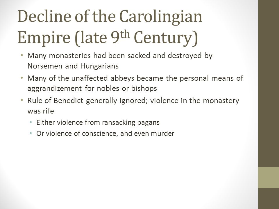Decline of the Carolingian Empire (late 9th Century)