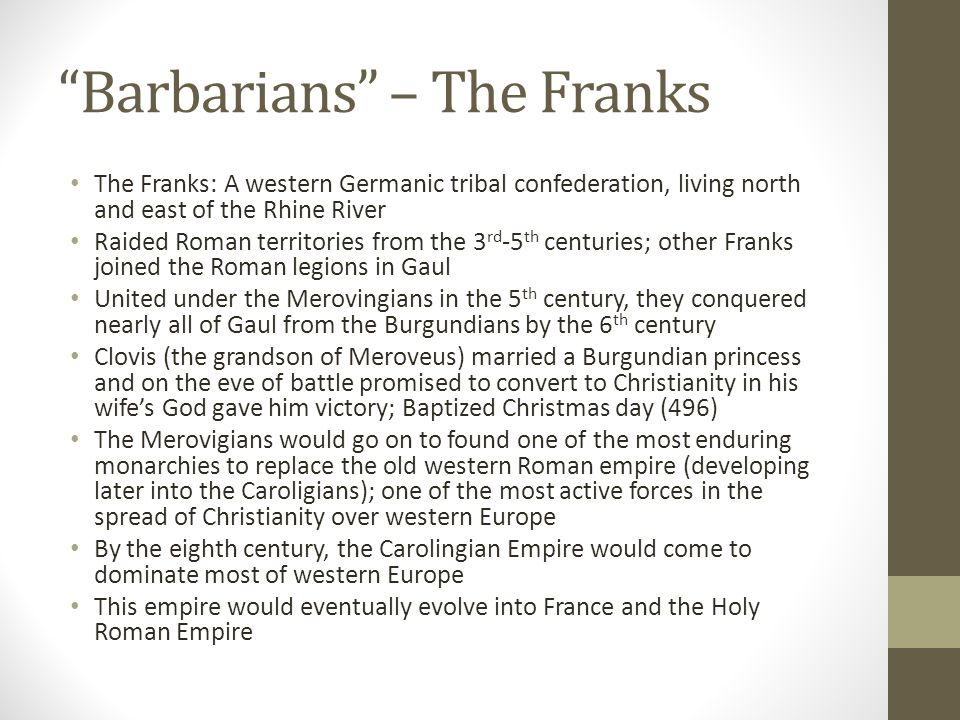 Barbarians – The Franks