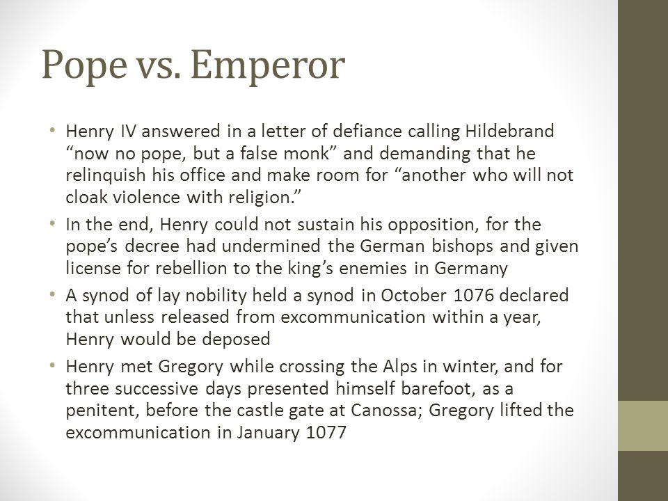 Pope vs. Emperor