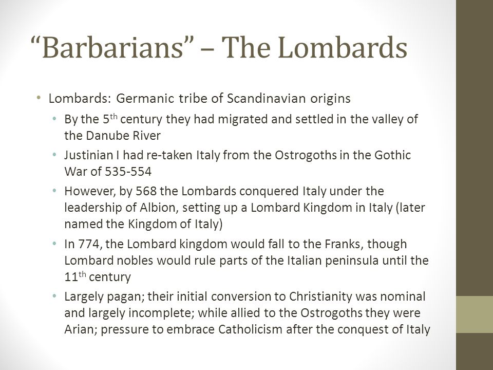 Barbarians – The Lombards