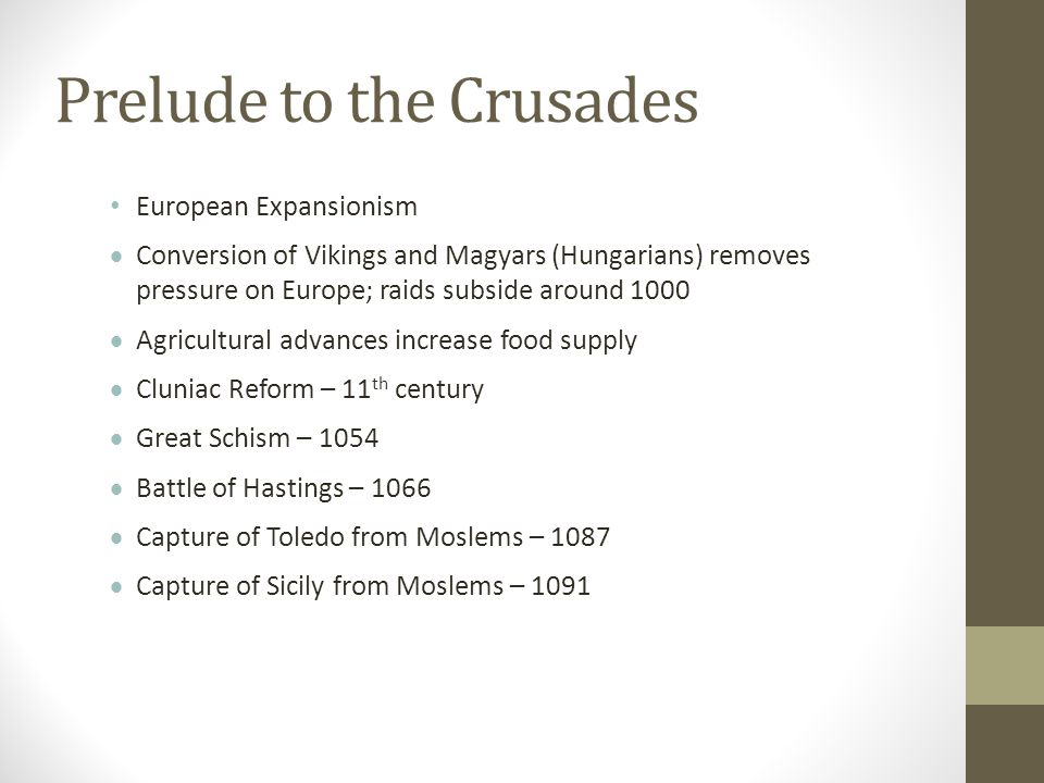 Prelude to the Crusades