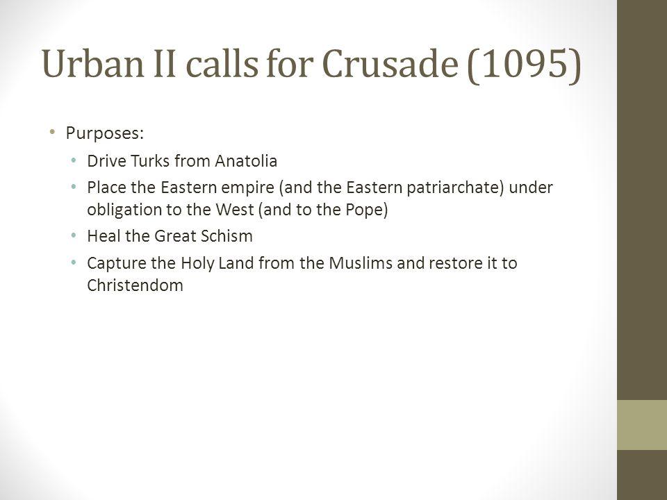 Urban II calls for Crusade (1095)
