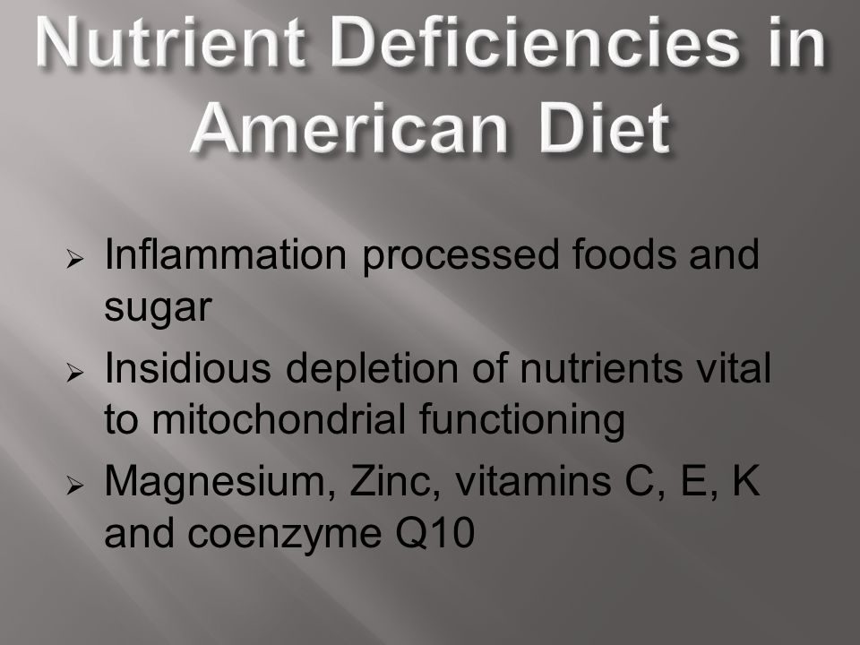 Nutrient Deficiencies in American Diet