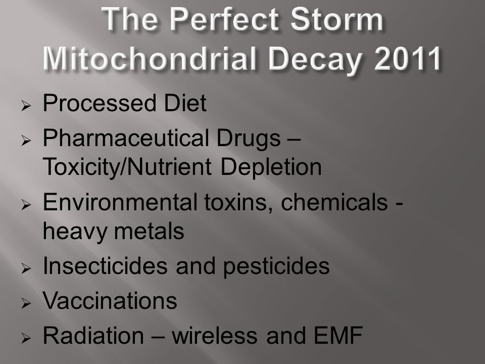 The Perfect Storm Mitochondrial Decay 2011