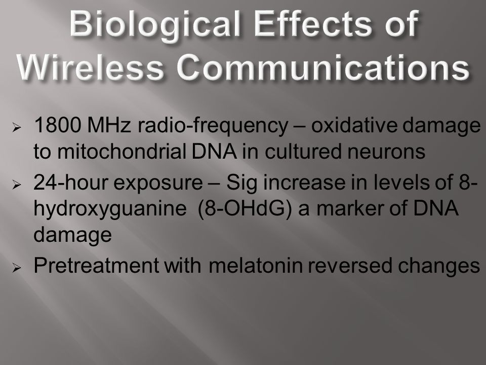 Biological Effects of Wireless Communications