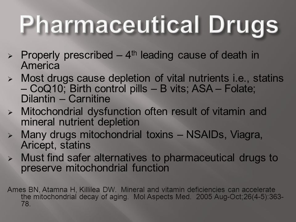 Pharmaceutical Drugs Properly prescribed – 4th leading cause of death in America.