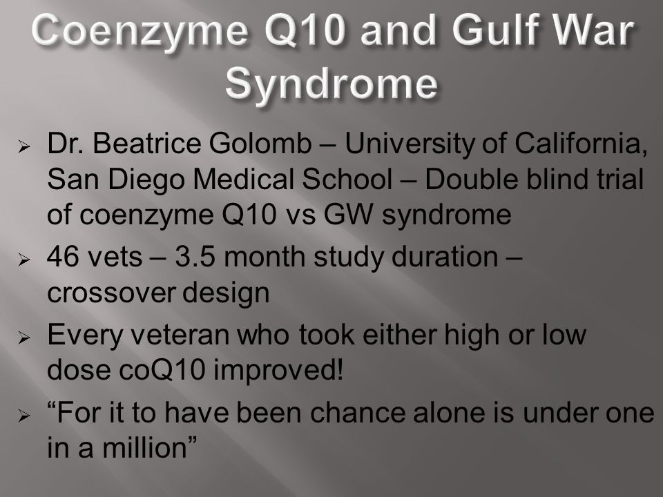 Coenzyme Q10 and Gulf War Syndrome