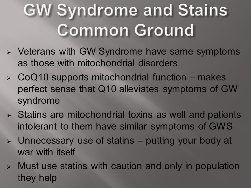 GW Syndrome and Stains Common Ground