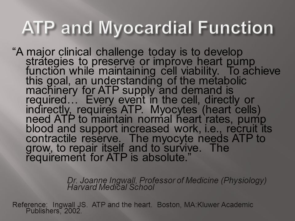 ATP and Myocardial Function